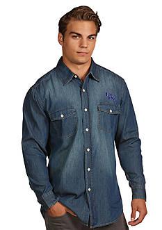 Antigua Kentucky Wildcats Long Sleeve Chambray Shirt