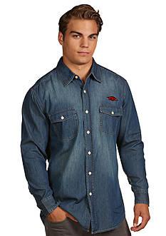 Antigua Arkansas Razorbacks Long Sleeve Chambray Shirt
