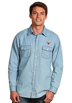Antigua Texas Longhorns Long Sleeve Chambray Shirt