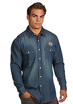 Antigua® Auburn Tigers Long Sleeve Chambray Shirt