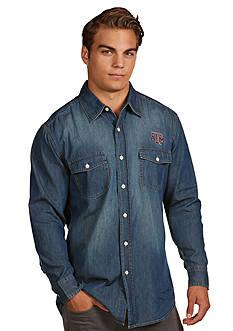 Antigua Texas A & M Aggies Long Sleeve Chambray Shirt