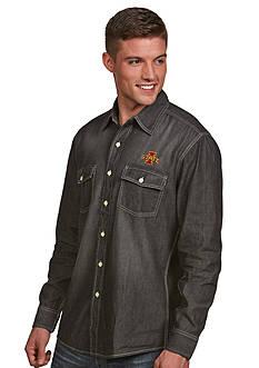 Antigua Iowa State Cyclones Long Sleeve Chambray Shirt