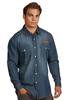 Antigua® Iowa State Cyclones Long Sleeve Chambray Shirt
