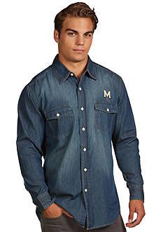 Antigua Maryland Terrapins Long Sleeve Chambray Shirt