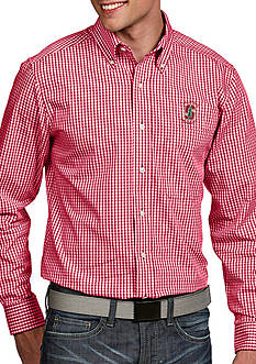 Antigua Stanford Cardinal Associate Woven Shirt