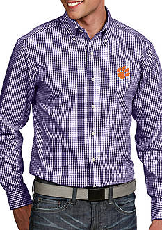 Antigua Clemson Tigers Associate Woven Shirt
