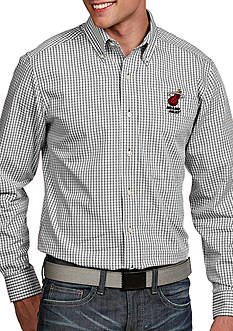 Antigua® Miami Heat Mens Associate LS Woven Shirt