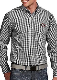 Antigua Georgia Bulldogs Associate Woven Shirt