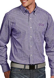 Antigua Texas Christian University Horned Frogs Associate Woven Shirt