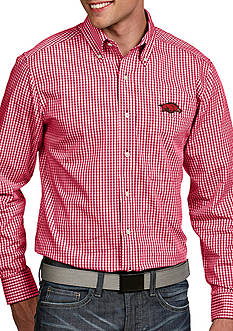 Antigua Arkansas Razorbacks Associate Woven Shirt