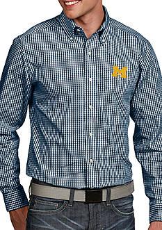 Antigua Michigan Wolverines Associate Woven Shirt
