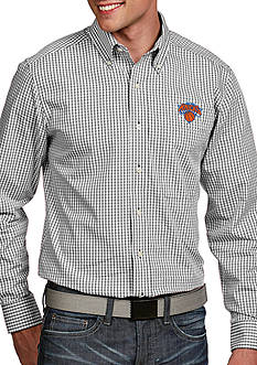 Antigua® New York Knicks Mens Associate LS Woven Shirt