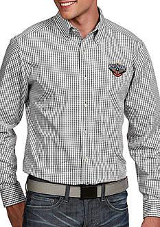 Antigua New Orleans Pelicans Mens Associate LS Woven Shirt