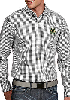 Antigua® Milwaukee Bucks Mens Associate LS Woven Shirt