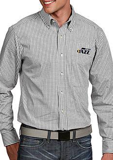 Antigua Utah Jazz Mens Associate LS Woven Shirt