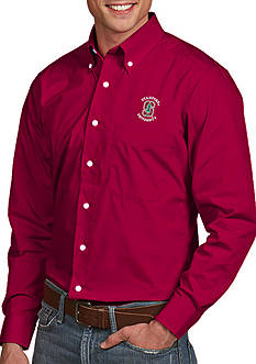 Antigua Stanford Cardinal Dynasty Woven Shirt