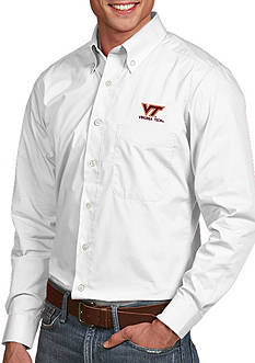 Antigua Virginia Tech Hokies Dynasty Woven Shirt