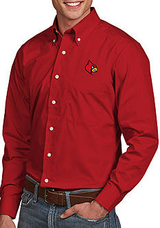 Antigua Louisville Cardinals Dynasty Woven Shirt