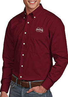 Antigua Mississippi State Bulldogs Dynasty Woven Shirt