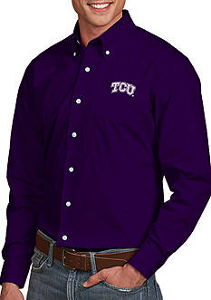 Antigua Texas Christian University Horned Frogs Dynasty Woven Shirt
