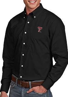 Antigua Texas Tech Red Raiders Dynasty Woven Shirt