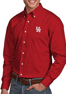 Antigua Houston Cougars Dynasty Woven Shirt