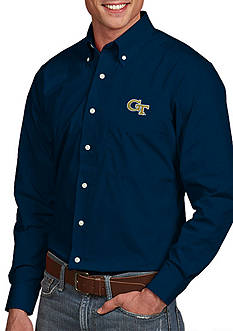 Antigua Georgia Tech Yellow Jackets Dynasty Woven Shirt