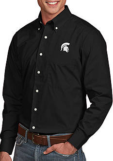 Antigua Michigan State Spartans Dynasty Woven Shirt