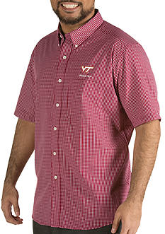 Antigua® Virginia Tech Hokies Short Sleeve Button Down