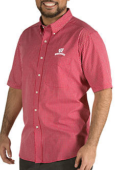 Antigua® Wisconsin Badgers Short Sleeve Button Down