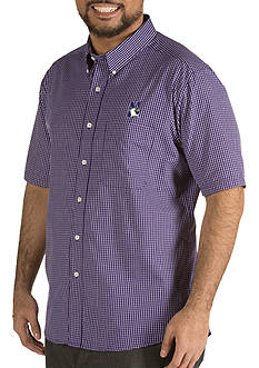 Antigua® Northwestern Wildcats Short Sleeve Button Down