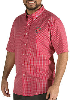 Antigua® NC State Wolfpack Short Sleeve Button Down
