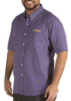 Antigua® LSU Tigers Short Sleeve Button Down