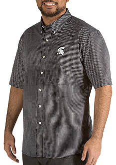 Antigua Michigan State Spartans Short Sleeve Button Down