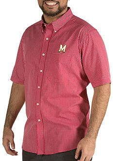Antigua® Maryland Terrapins Short Sleeve Button Down