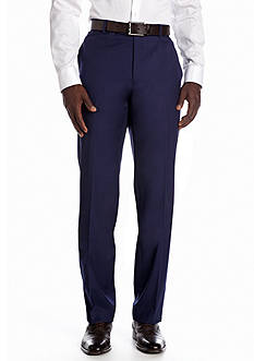 Nicole Miller Slim Fit Solid Flat Front Suit Separate Pants