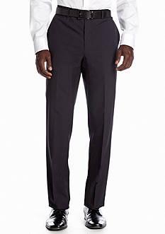 Nicole Miller Slim Fit Navy Stripe Flat Front Suit Separate Pants