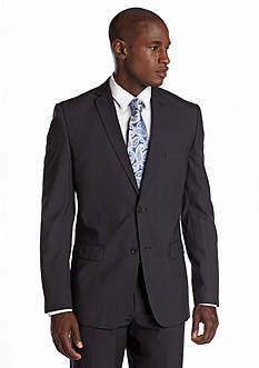 Nicole Miller Slim Fit Navy Stripe Suit Separate Jacket