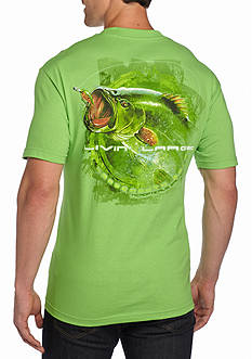 Saddlebred® Livin' Large Bass Graphic Tee