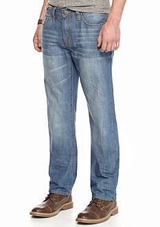 Red Camel® Medium Retro Washed Staight-Leg Jeans