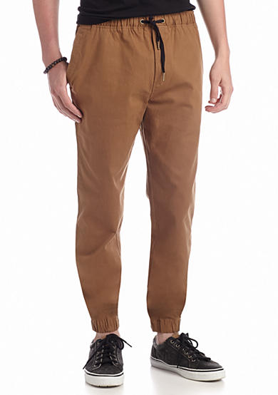 Solid Stretch Twill Jogger Pants