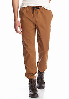 Red Camel Twill Jogger Pants
