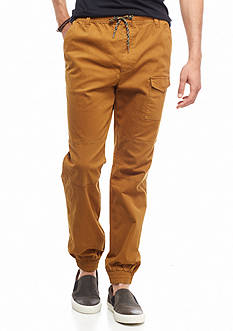 Red Camel Herringbone Jogger Pants