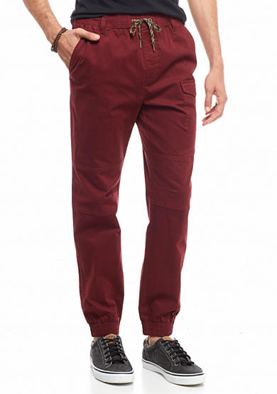 Red Camel® Herringbone Jogger Pants