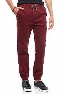 Red Camel Herringbone Jogger Pants