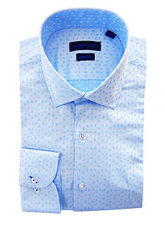 Andrew Fezza Slim Fit Square Printed Dress Shirt