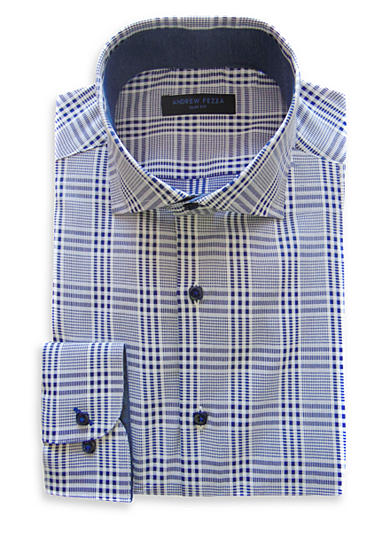 Andrew Fezza Slim-Fit Plaid Dress Shirt