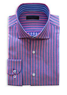 Andrew Fezza Slim-Fit Stripe Dress Shirt