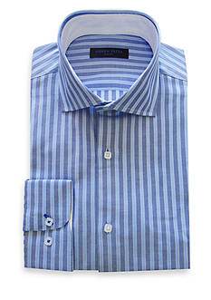 Andrew Fezza Slim-Fit Striped Dress Shirt