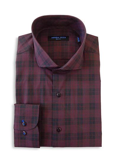 Andrew Fezza Slim Fit Plaid Dress Shirt Belk